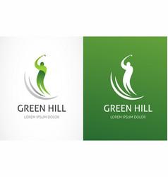 golf club icon symbol element and logo vector image