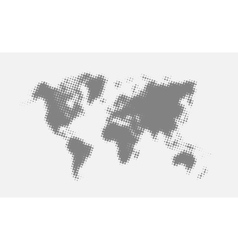 Grey halftone political world map vector