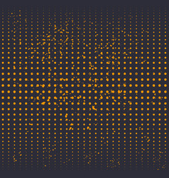 halftone background with grunge texture vector image