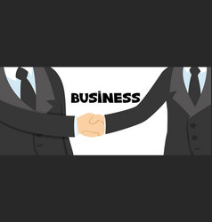 handshake of two business people vector image