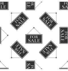 hanging sign with for sale icon seamless pattern vector image