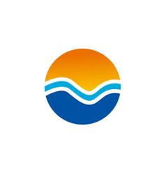 happy holiday logo vector image