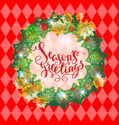 Holiday season red frame vector