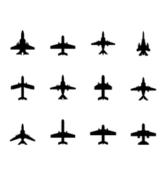 icons airplanes vector image