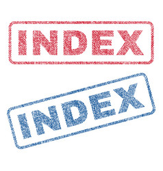 index textile stamps vector image