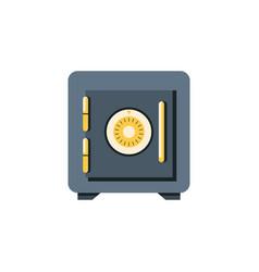 Isolated locked flat icon saving element vector