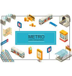 isometric subway concept vector image