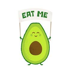 keto diet avocado power funny creative vector image