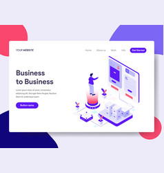landing page template of business to business vector image