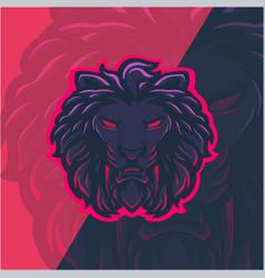 Lion head mascot logo design vector