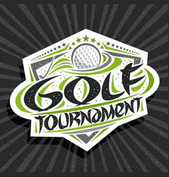 Logo for golf tournament vector
