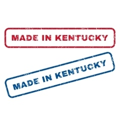 Made In Kentucky Rubber Stamps vector
