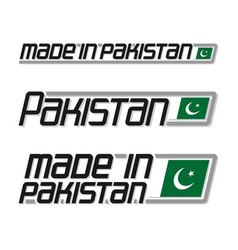 Made in pakistan vector