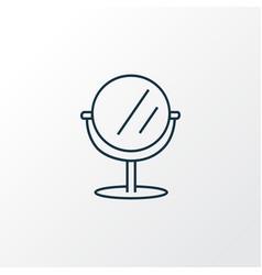Mirror icon line symbol premium quality isolated vector