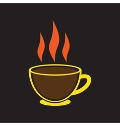 Modern flat icon with black background indian tea vector