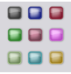 Nine buttons vector