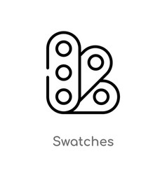 Outline swatches icon isolated black simple line vector
