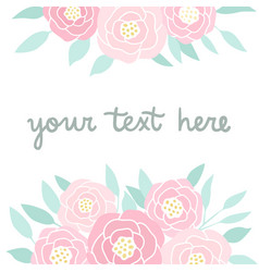 pink peonies on white vector image