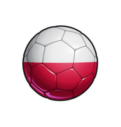 Polish flag football - soccer ball vector