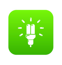 powersave lamp icon green vector image