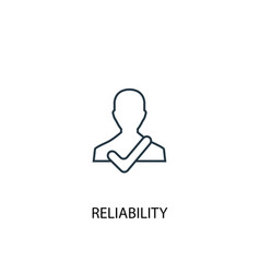 Reliability concept line icon simple element vector