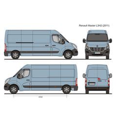 Renault master l3h2 cargo bus 2011 vector