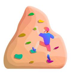 safety wall climbing icon cartoon style vector image