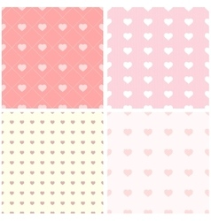 Seamless pattern with paper hearts vector image