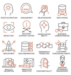 Set of icons related to business management - 26 vector image