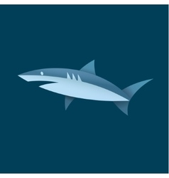 Shark in blue colors of a vector image