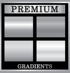 silver gradient backgrounds set silver design vector image