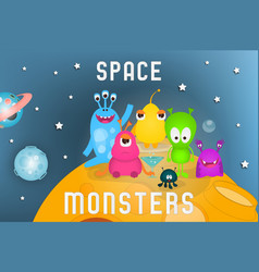 Space monsters vector