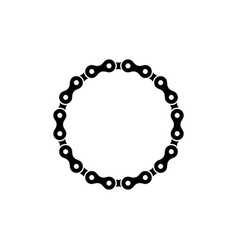 sprocket chain icon design template isolated vector image