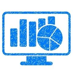 Statistics Monitoring Grainy Texture Icon vector