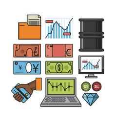 Stock exchange icons vector