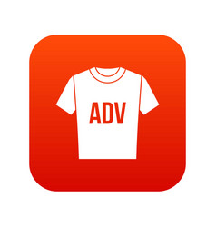 t-shirt with print adv icon digital red vector image