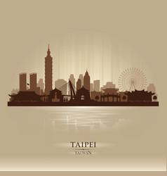 taipei taiwan city skyline silhouette vector image