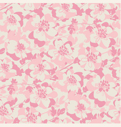 Tender pastel pink color floral seamless pattern vector