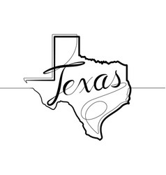 texas state one continuous line icon vector image