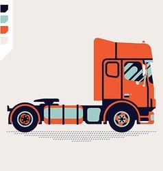 Tractor Unit Icon vector