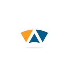 triangle a shape colored logo vector image
