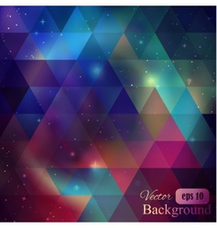 Triangle background with galaxy vector