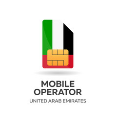 United arab emirates mobile operator uae sim vector