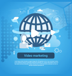Video marketing concept web banner with copy space vector