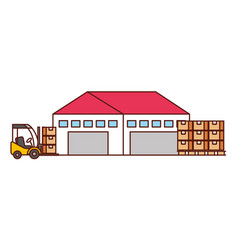 warehouse logistic delivery vector image