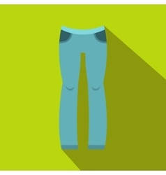 Woman trousers icon flat style vector