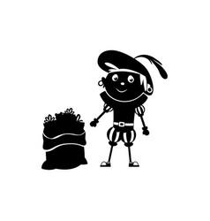 Zwarte piet silhouette vector