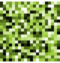 Abstract green pixel background vector image vector image