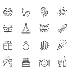 Celebration icons and Party icons vector image vector image