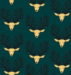 Cute seamless pattern with deers vector image